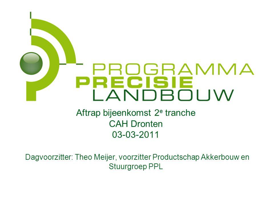 In PPL (Programma PrecisieLandbouw) investeren landbouwbedrijfsleven en ministerie van EL&I in hulpmiddelen voor innovatieve Controlled Traffic Farmin