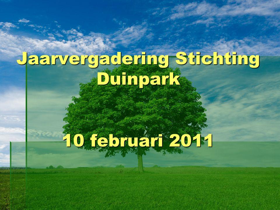 Jaarvergadering Stichting Duinpark 10 februari 2011