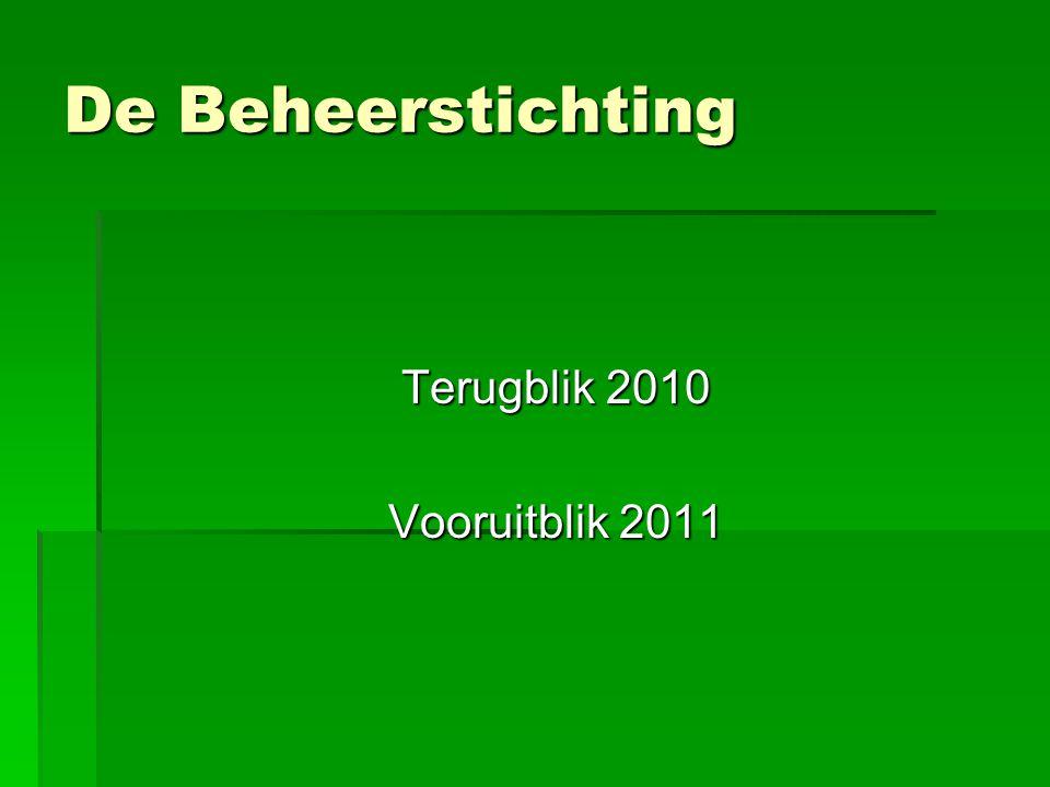 De Beheerstichting Terugblik 2010 Vooruitblik 2011