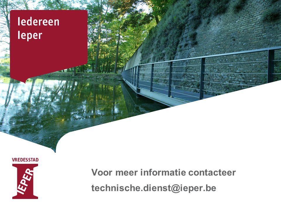 Voor meer informatie contacteer technische.dienst@ieper.be