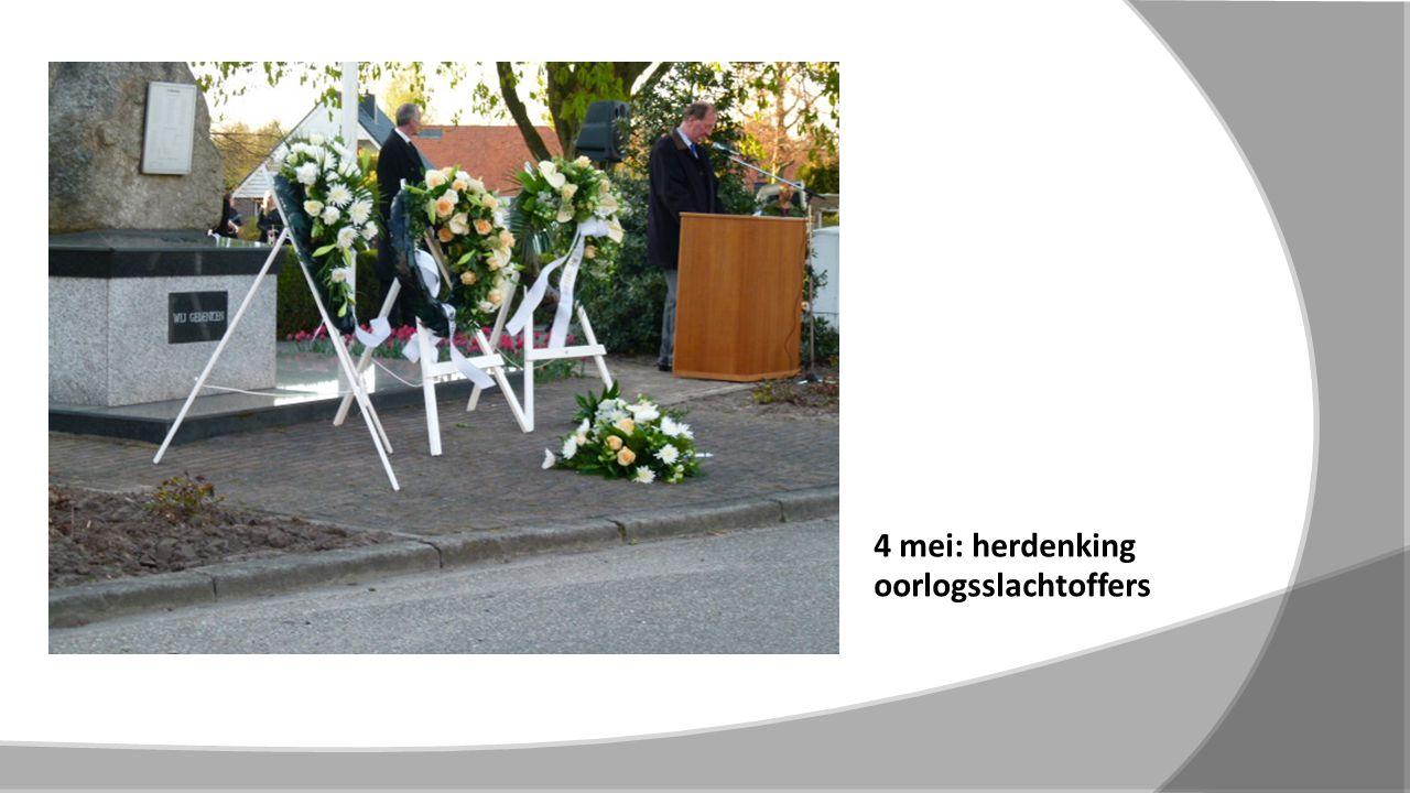 4 mei: herdenking oorlogsslachtoffers