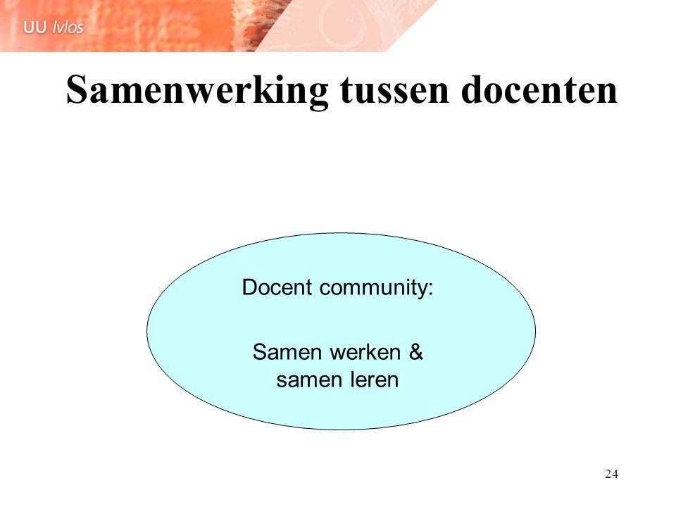 25 Docentcommunities Gedeelde identiteit Gedeelde omgangsnormen Gedeelde doelen Nodig: Sociale competenties