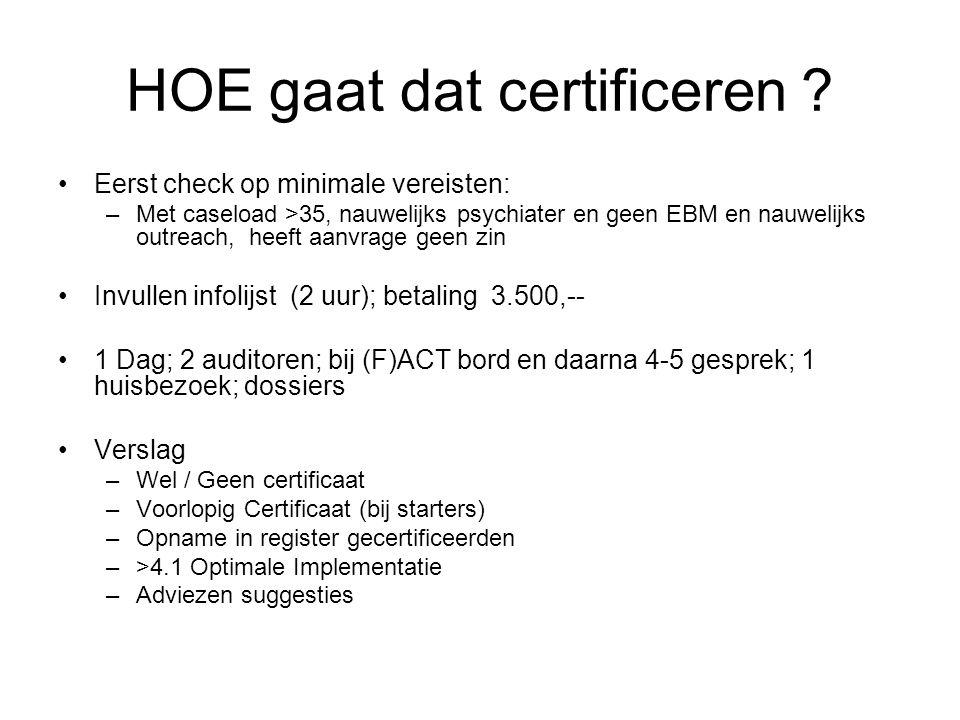 HOE gaat dat certificeren .