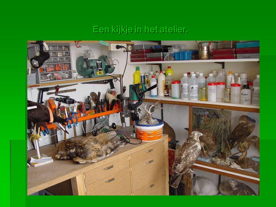 Een kijkje in het atelier.