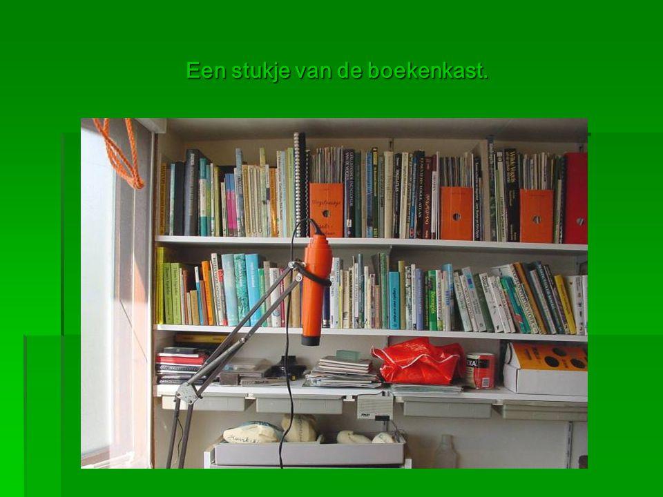 Een stukje van de boekenkast.