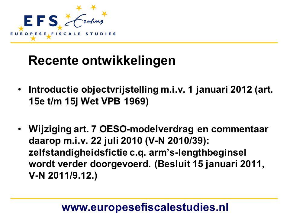 Vier te vergelijken aspecten www.europesefiscalestudies.nl Nederlandse BV start activiteit in het buitenland.
