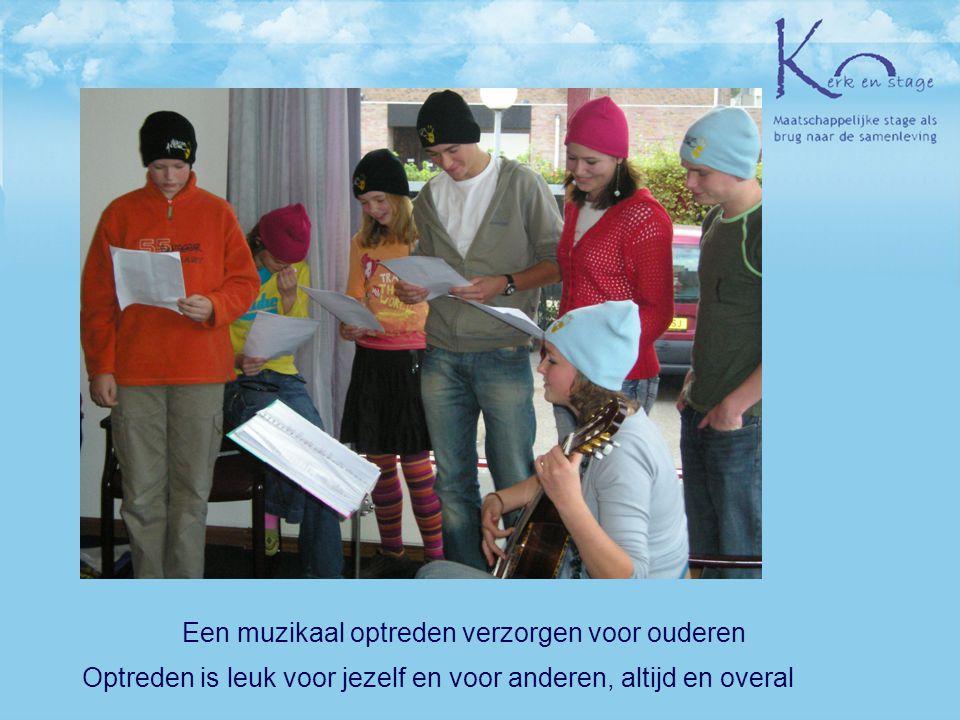 Optreden is leuk voor jezelf en voor anderen, altijd en overal Een muzikaal optreden verzorgen voor ouderen