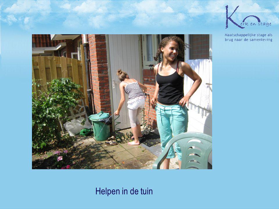 Helpen in de tuin