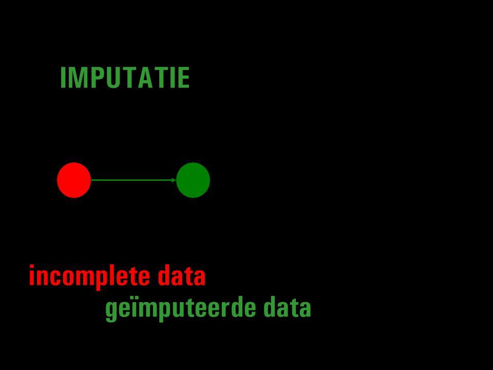 geïmputeerde data IMPUTATIE incomplete data