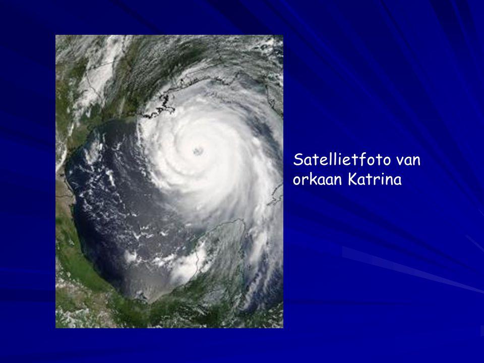 Satellietfoto van orkaan Katrina