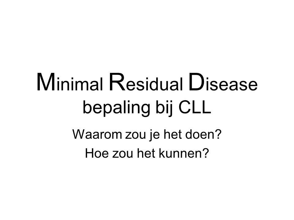 M inimal R esidual D isease bepaling bij CLL Waarom zou je het doen? Hoe zou het kunnen?