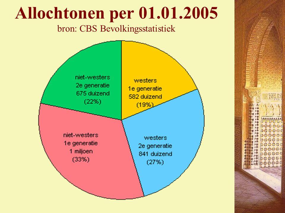 Allochtonen per 01.01.2005 bron: CBS Bevolkingsstatistiek