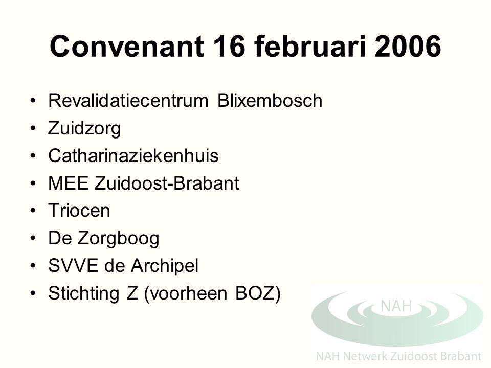 Convenant 16 februari 2006 Revalidatiecentrum Blixembosch Zuidzorg Catharinaziekenhuis MEE Zuidoost-Brabant Triocen De Zorgboog SVVE de Archipel Stich