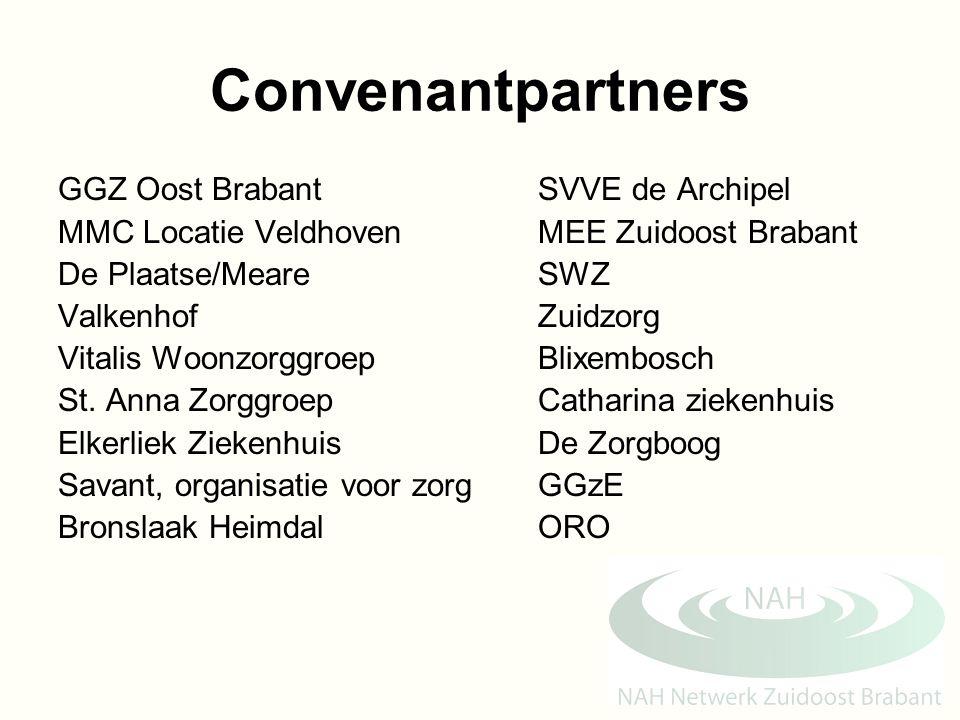 Convenantpartners GGZ Oost BrabantSVVE de Archipel MMC Locatie VeldhovenMEE Zuidoost Brabant De Plaatse/MeareSWZ ValkenhofZuidzorg Vitalis Woonzorggro