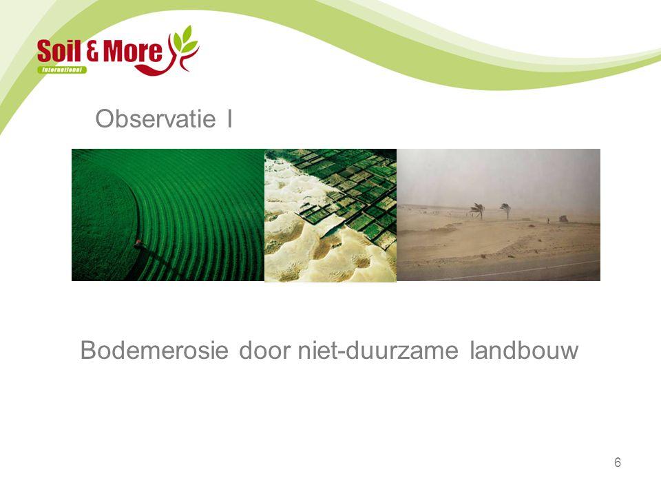6 Observatie I Bodemerosie door niet-duurzame landbouw