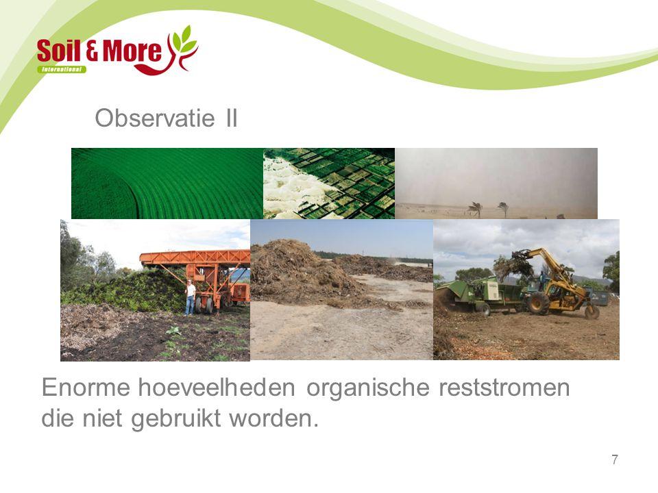 8 SMI = Het verbinden van deze observaties Gebruik biomassa voor compostering om bodemvruchtbaarheid terug te brengen