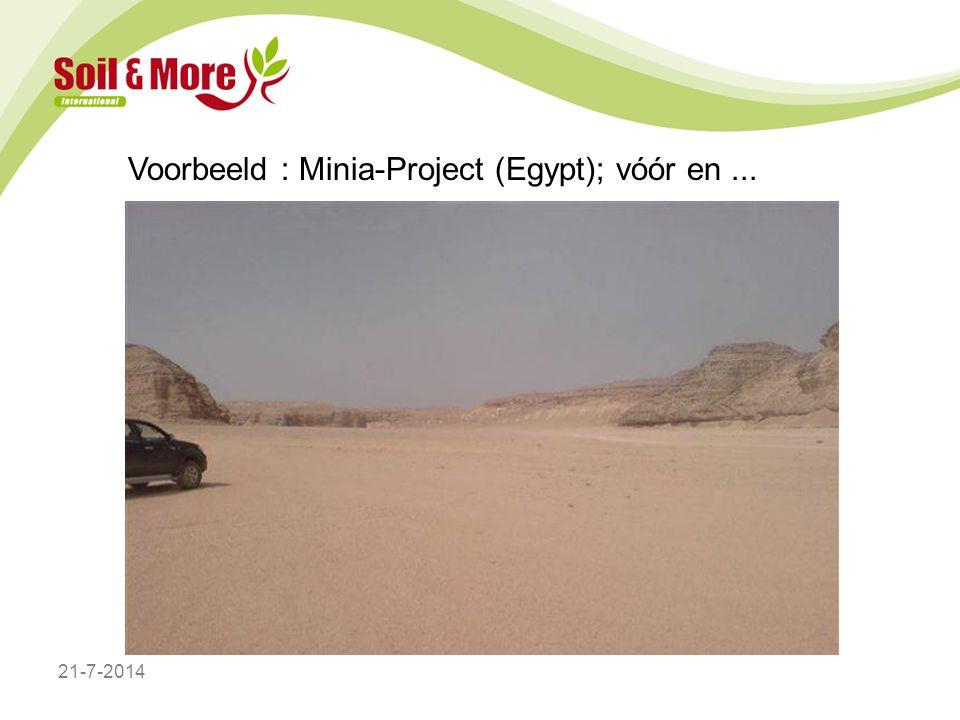 Voorbeeld : Minia-Project (Egypt); vóór en... 21-7-2014