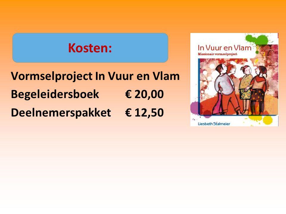 Vormselproject In Vuur en Vlam Begeleidersboek€ 20,00 Deelnemerspakket € 12,50 Kosten: