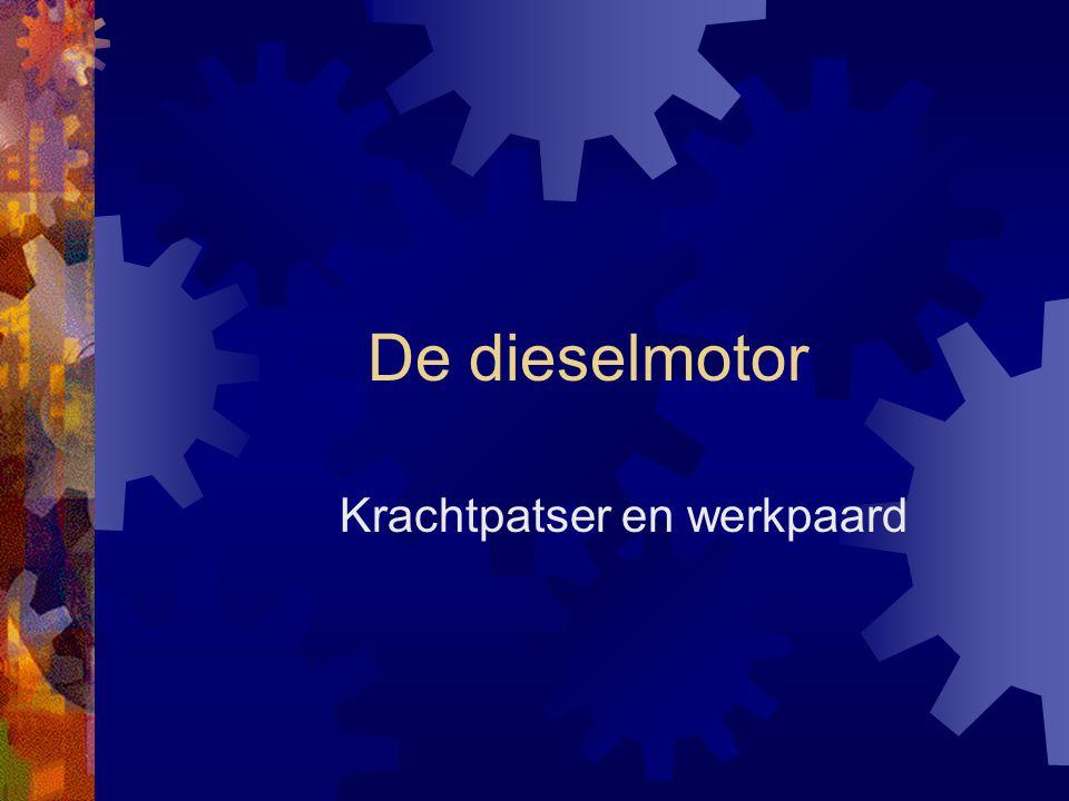 De dieselmotor Krachtpatser en werkpaard