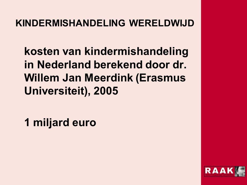KINDERMISHANDELING WERELDWIJD kosten van kindermishandeling in Nederland berekend door dr.