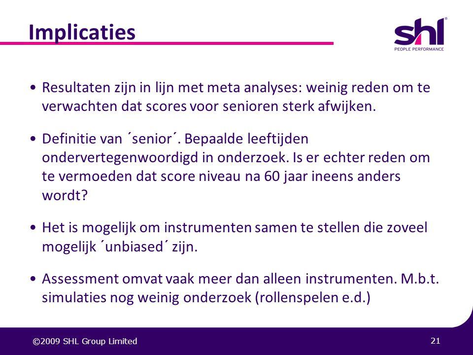 20 Resultaten: Competentie voorspelling In de praktijk worden motivatie en persoonlijkheid door elkaar gebruikt.