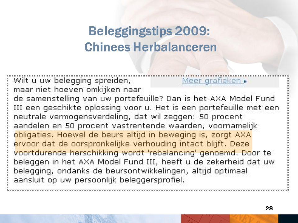 28 Beleggingstips 2009: Chinees Herbalanceren