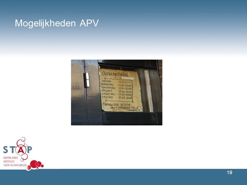 19 Mogelijkheden APV