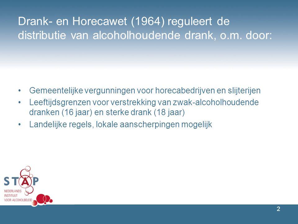 2 Drank- en Horecawet (1964) reguleert de distributie van alcoholhoudende drank, o.m.