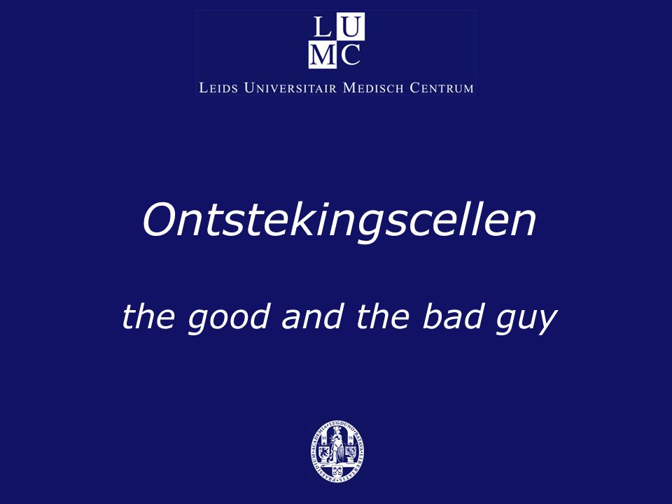 Ontstekingscellen the good and the bad guy
