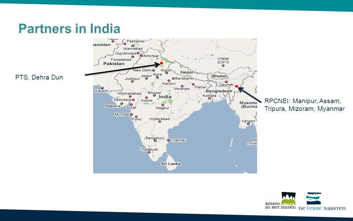 RPCNEI: Manipur, Assam, Tripura, Mizoram, Myanmar PTS, Dehra Dun Partners in India