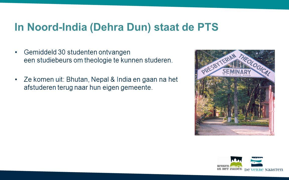 In Noord-India (Dehra Dun) staat de PTS Gemiddeld 30 studenten ontvangen een studiebeurs om theologie te kunnen studeren.