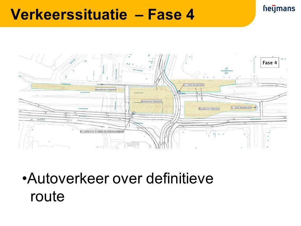 Verkeerssituatie – Fase 4 Autoverkeer over definitieve route