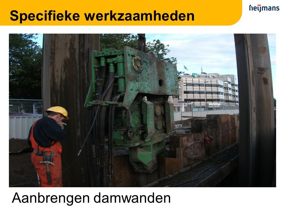 Specifieke werkzaamheden Aanbrengen damwanden