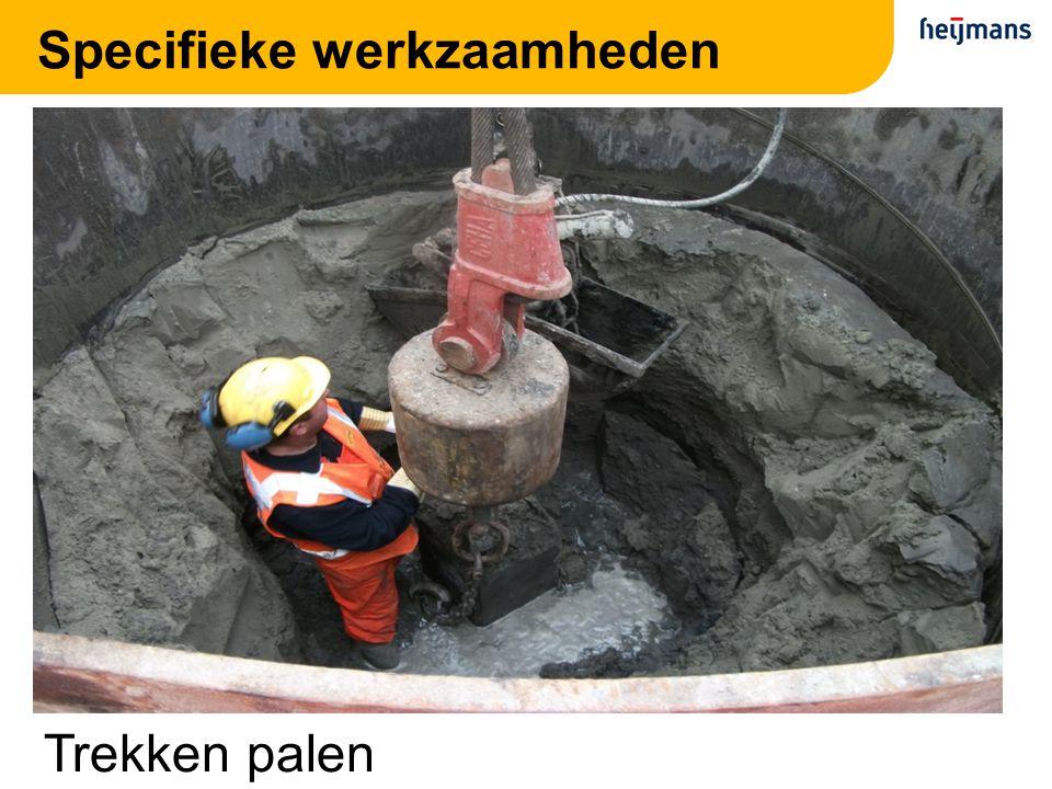 Specifieke werkzaamheden Trekken palen