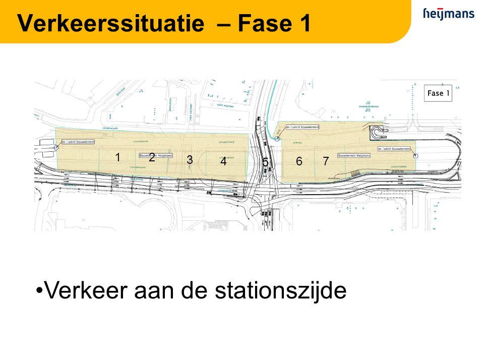 Verkeerssituatie – Fase 1 21 3 4 5 67 Verkeer aan de stationszijde