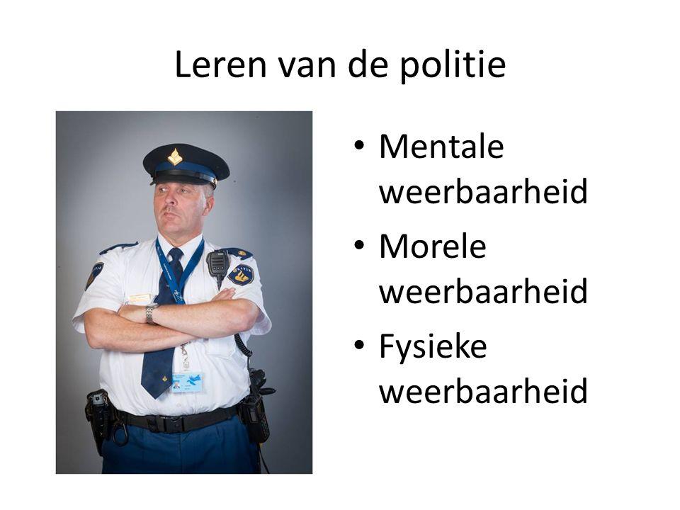 Leren van de politie Mentale weerbaarheid Morele weerbaarheid Fysieke weerbaarheid