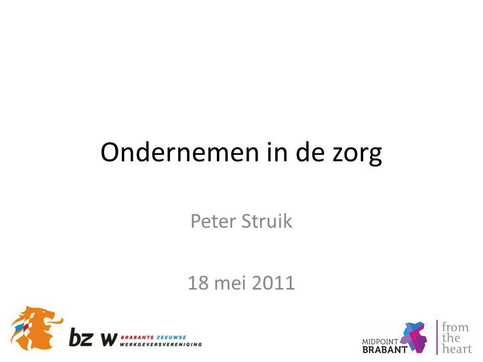 Ondernemen in de zorg Peter Struik 18 mei 2011
