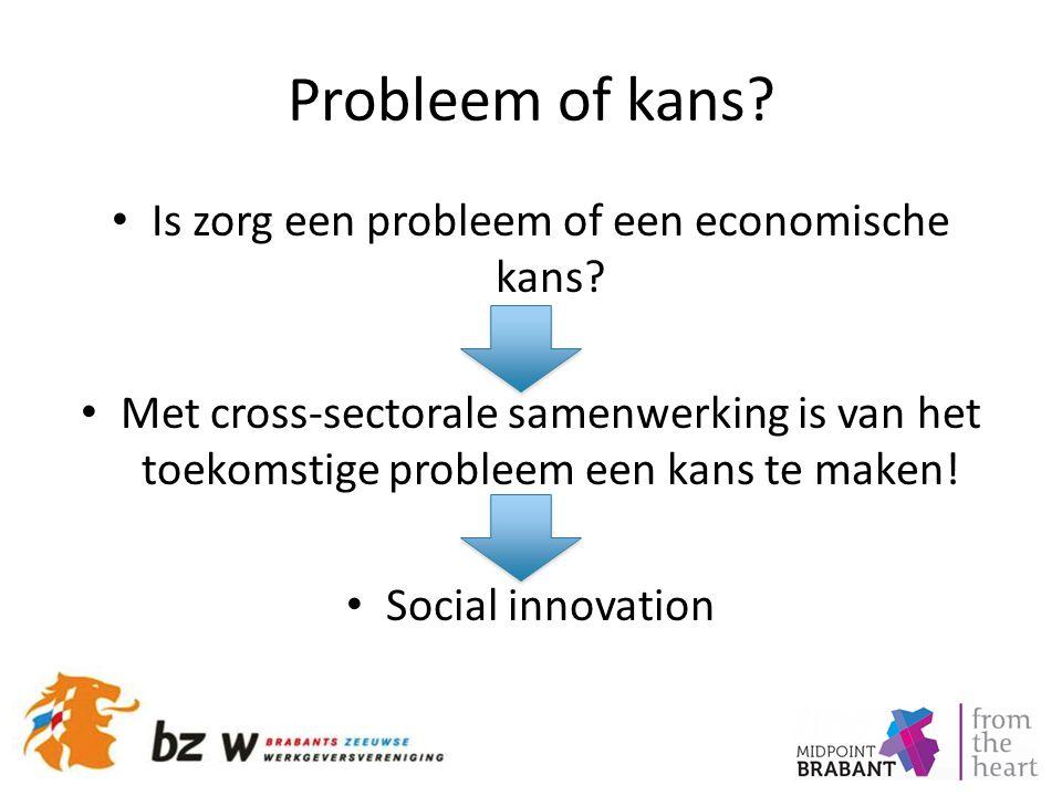 Probleem of kans? Is zorg een probleem of een economische kans? Met cross-sectorale samenwerking is van het toekomstige probleem een kans te maken! So