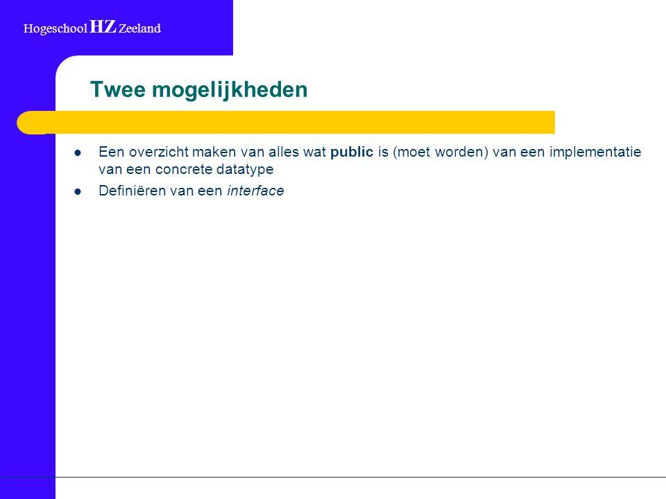 Hogeschool HZ Zeeland Specificatie compleet.