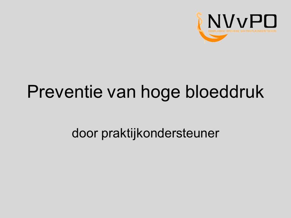 Preventie van hoge bloeddruk door praktijkondersteuner