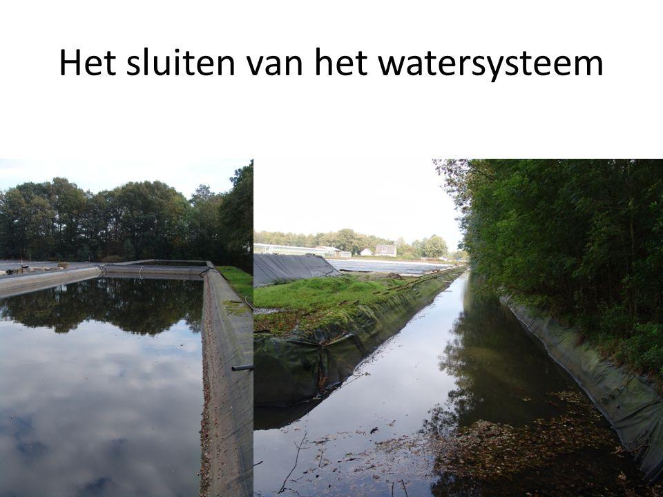 Het sluiten van het watersysteem
