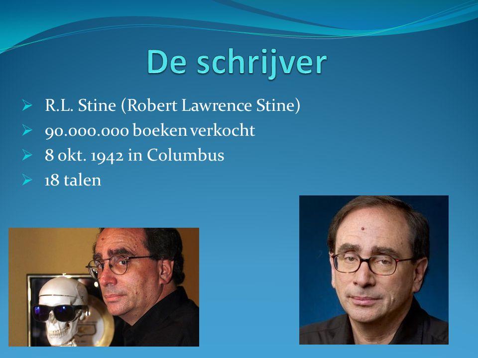  R.L.Stine (Robert Lawrence Stine)  90.000.000 boeken verkocht  8 okt.