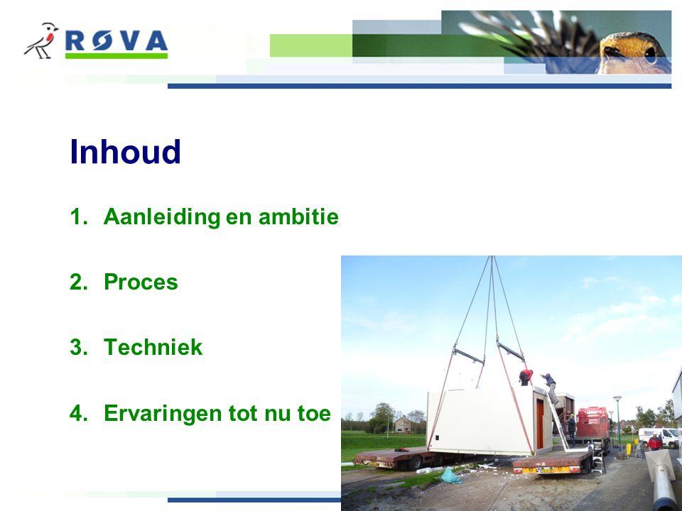 Inhoud 1.Aanleiding en ambitie 2.Proces 3.Techniek 4.Ervaringen tot nu toe