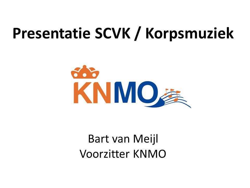 Presentatie SCVK / Korpsmuziek Bart van Meijl Voorzitter KNMO