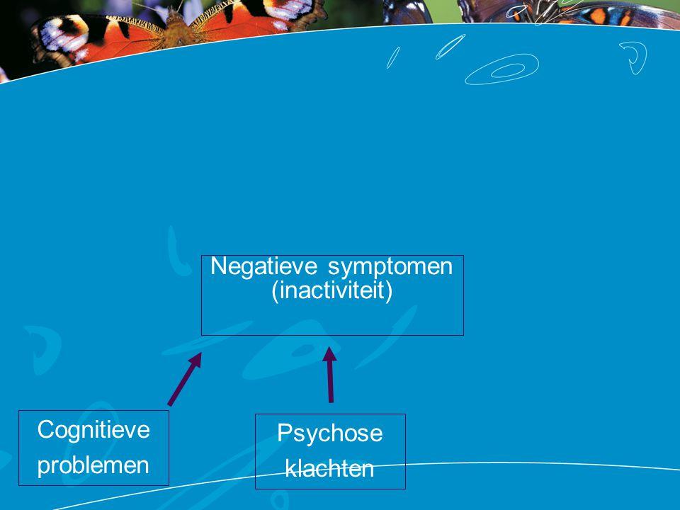 Negatieve symptomen (inactiviteit) Cognitieve problemen Rouw over verliezen Zelf-stigmatisatie en de verwachting van sociale uitstoting Medicatie bijwerkingen Ziekte- kenmerken Psychose klachten Heftige ervaringen