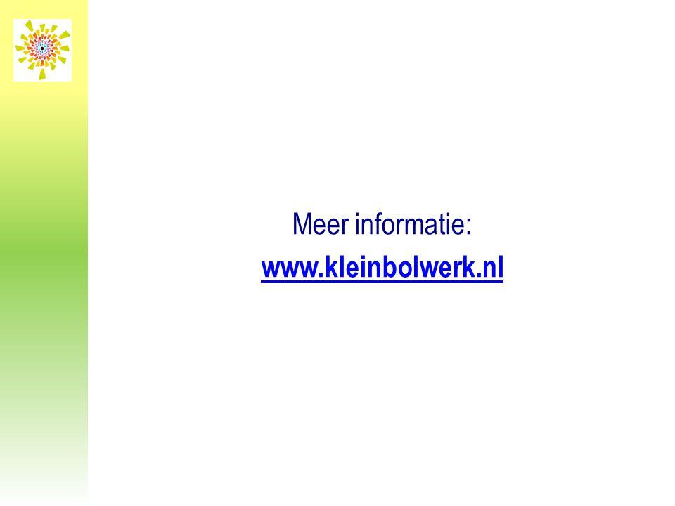 Meer informatie: www.kleinbolwerk.nl