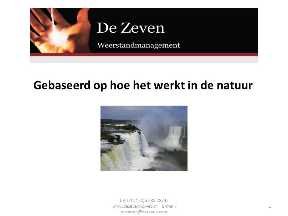 Gebaseerd op hoe het werkt in de natuur Tel: 00 31 (0)6 285 78743 www.dezeven.vpweb.nl E-mail: p.oomen@dezeven.com 1