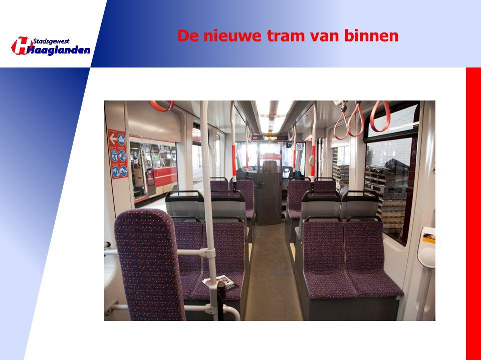 De nieuwe tram van binnen