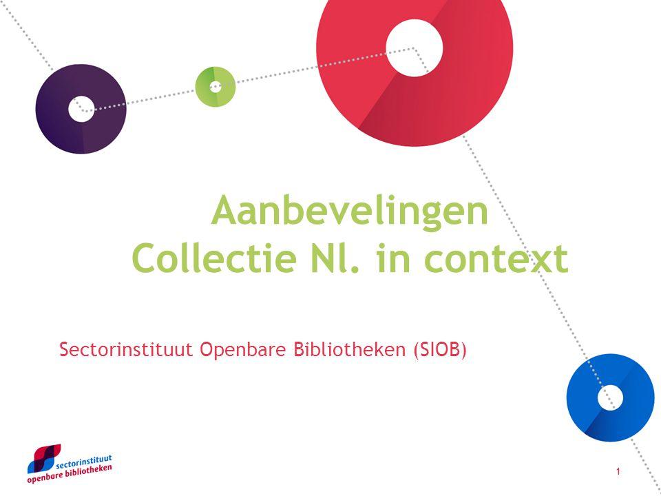 1 Aanbevelingen Collectie Nl. in context Sectorinstituut Openbare Bibliotheken (SIOB)
