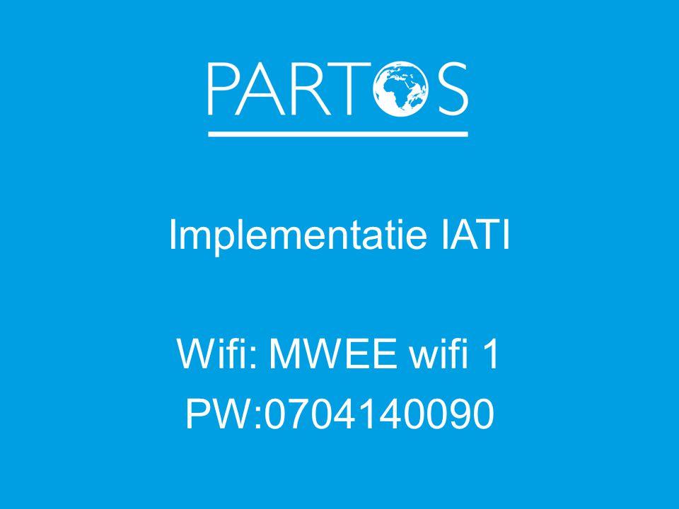 Implementatie IATI Wifi: MWEE wifi 1 PW:0704140090
